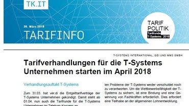 Tarifinfo 1 Tarifrunde TSI 2018 - Teaser