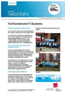 Tarifinfo 2 Tarifrunde T-Systems 2018