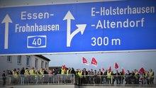 Warnstreik bei der Telekom in Essen am 10.04.2018