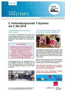 Tarifinfo 3 Tarifrunde T-Systems 2018