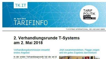 Tarifinfo 3 Tarifrunde T-Systems 2018 - Teaser