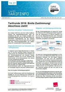 Tarifinfo 17 Telekom Tarifrunde 2018