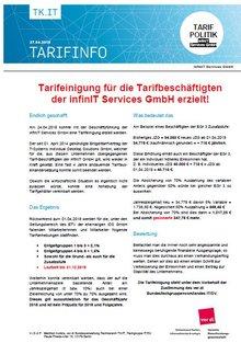 Tarifinfo infinIT April 2018 - Tarifeinigung