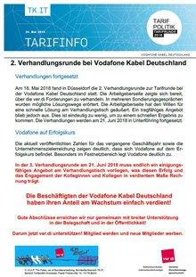 Tarifinfo 3 Vodafone Kabel Deutschland Tarifrunde 2018