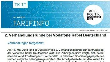 Tarifinfo 3 Vodafone Kabel Deutschland - Teaser