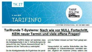 Tarifinfo 7 Tarifrunde T-Systems 2018 - Taeser
