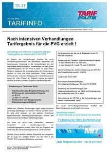 Tarifinfo 2 Tarifrunde PVG 2018