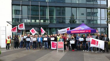 Warnstreik T-Systems Münster 10.07.2018