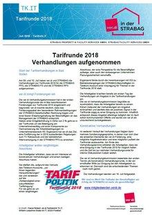 Tarifinfo 3 STRABAG - Verhandlungen aufgenommen