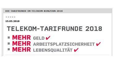 Themenseite Tarifrunde Telekom 2018 im Mitgliedernetz - Teaserformat