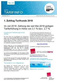 Tarifinfo 18 - erster Zahltag Deutschland-Segment