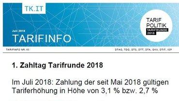 Tarifinfo 18 - erster Zahltag Deutschland-Segment - Teaser