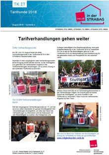 Tarifinfo 5 Tarifrunde STRABAG 2018 - Verhandlungen fortgeführt
