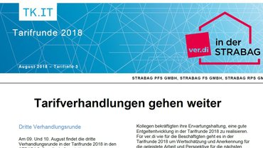Tarifinfo 5 - Tarifverhandlungen gehen weiter