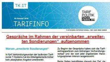 Tarifinfo 15 Tarifrunde T-Systems 2018 - Erweiterte Sondierung - Teaserformat