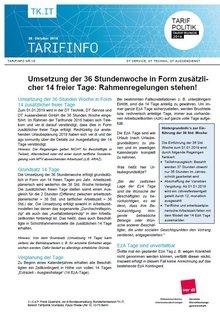 Tarifinfo 19 Tarifrunde telekom 2018 - Rahmen für 14 Tage steht - Seite 1 von 2