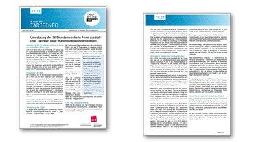 Tarifinfo 19 - Rahmen für 14 Tage steht