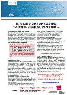 Flyer Besoldungsrunde Beamte 2018 bis 2020