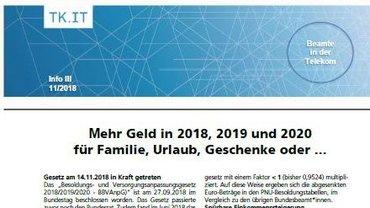 Flyer Besoldungsrunde Beamte 2018 bis 2020 - Teaser