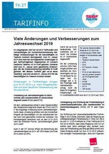 Tarifinfo: Telekom-Konzern: Viele Änderungen und Verbesserungen zum Jahreswechsel 2019 - Seite 1 von 3