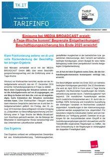 Tarifinfo MEDIA BROADCAST - Januar 2019 - Seite 1 von 4