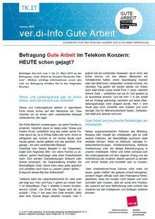 Tarifinfo 2 Gute Arbeit Telekom-Konzern 2019 - Seite 1 von 2