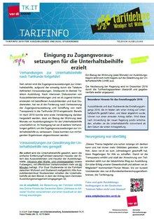 Tarifinfo Unterhaltsbeihilfe Telekom