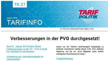 Tarifinfo 01 / 2019 PVG - Teaserformat