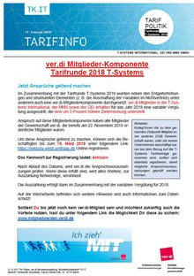 Tarifinfo 17 Tarifrunde T-Systems 2018