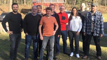 Das Team der GewerkschaftssekretärInnen des Landesfachbereichs 9 NRW