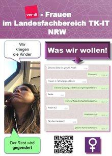 Flyer Frauenvorstand ver.di Landesfachbereich 9 NRW