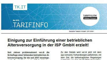 Tarifinfo bAV DT ISP - Teaser