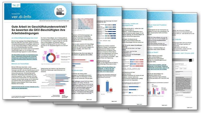 ver.di-Info Gute Arbeit Telekom - Sonderauswertung DT GKV