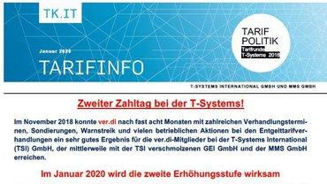 Tarifinfo zweiter Zahltag T-Systems - Teaserformat