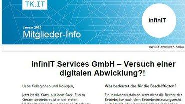 Mitgliederinfo Insolvenz infinIT - Teaserformat
