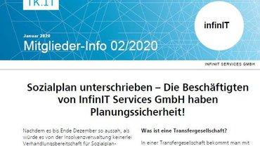 Mitgliederinfo Sozialplan Insolvenz infinIT - Teaserformat