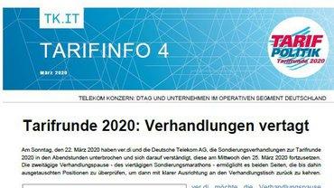 Tarifinfo 04 Telekom - Verhandlungen vertagt - Teaserformat