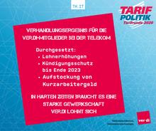 Verhandlungsergebnis Telekom - Headlines