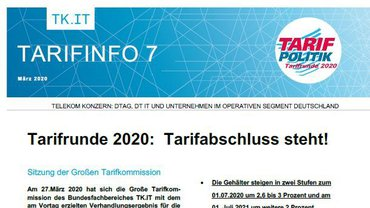 Tarifinfo 07 Telekom - Tarifabschluss steht - Teaserformat