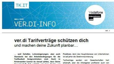 ver.di-Info Vodafone - Tarifverträge schützen dich - Teaserformat