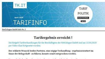 Tarifinfo Abschluss NetCologne - Teaserformat