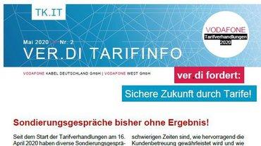 Tarifinfo 2 Vodafone Tarifbewegung 2020 - Sondierungsgespräche bisher ohne Ergebnis - Teaserformat