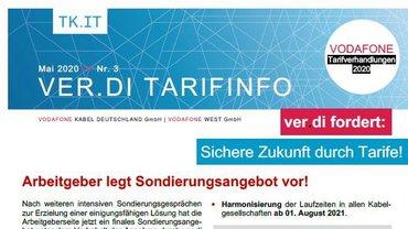 Tarifinfo 3 Vodafone Tarifbewegung 2020 - Arbeitgeber legt Sondierungsangebot vor - Teaserformat