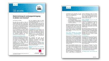 ver.di-Info: Zielerreichung & Leistungserbringung in Zeiten von Corona in der DT GKV