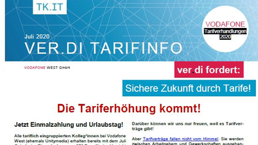 Tarifinfo 5 Vodafone Tarifbewegung 2020 - Die Tariferhöhung kommt! - Teaserformat