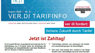 Tarifinfo Vodafone Tarifbewegung 2020 - Jetzt ist Zahltag! - Teaserformat