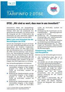 Tarifinfo 2 - Tarifrunde DTSE 2020