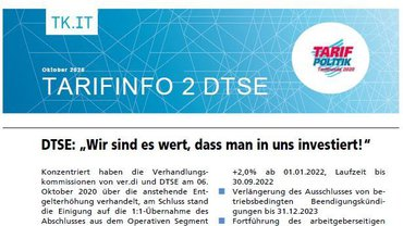 Tarifinfo 2 - Tarifrunde DTSE 2020 - Teaserformat