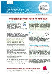 ver.di-INfo Sonderzahlung Beamte Telekom 2020