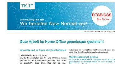 Flyer New Normal BetrGr Zentrale Betriebe Telekom Köln - Teaserformat
